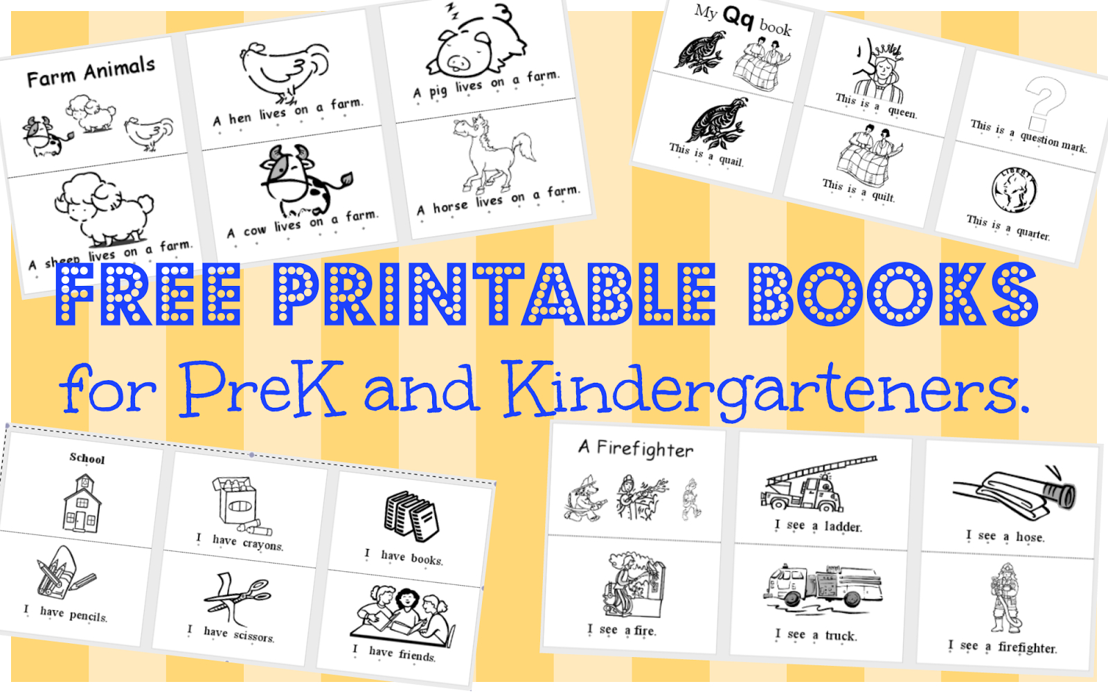 Wild Rumpus School House: *printable Books (Pk-K) - Free Printable Decodable Books For Kindergarten