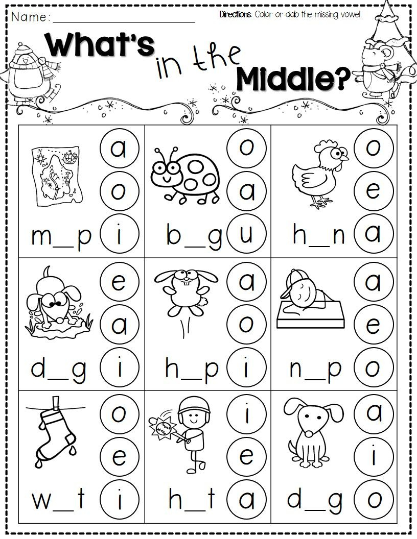 Winter Activities For Kindergarten Free   Kindergarten Literacy - Jolly Phonics Worksheets Free Printable