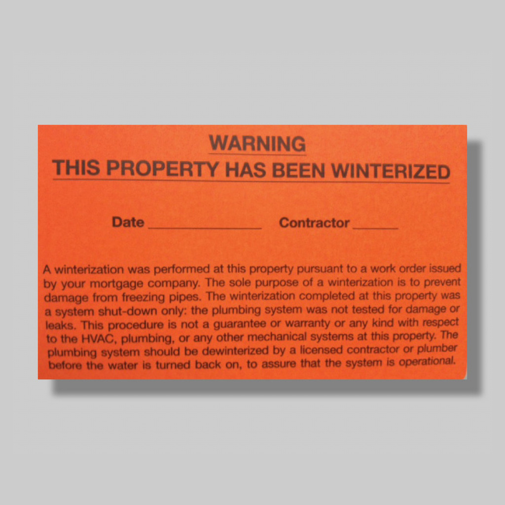 "Winterization Labels | 2 1/2"" X 4"" Regarding Free Printable - Free Printable Winterization Stickers"
