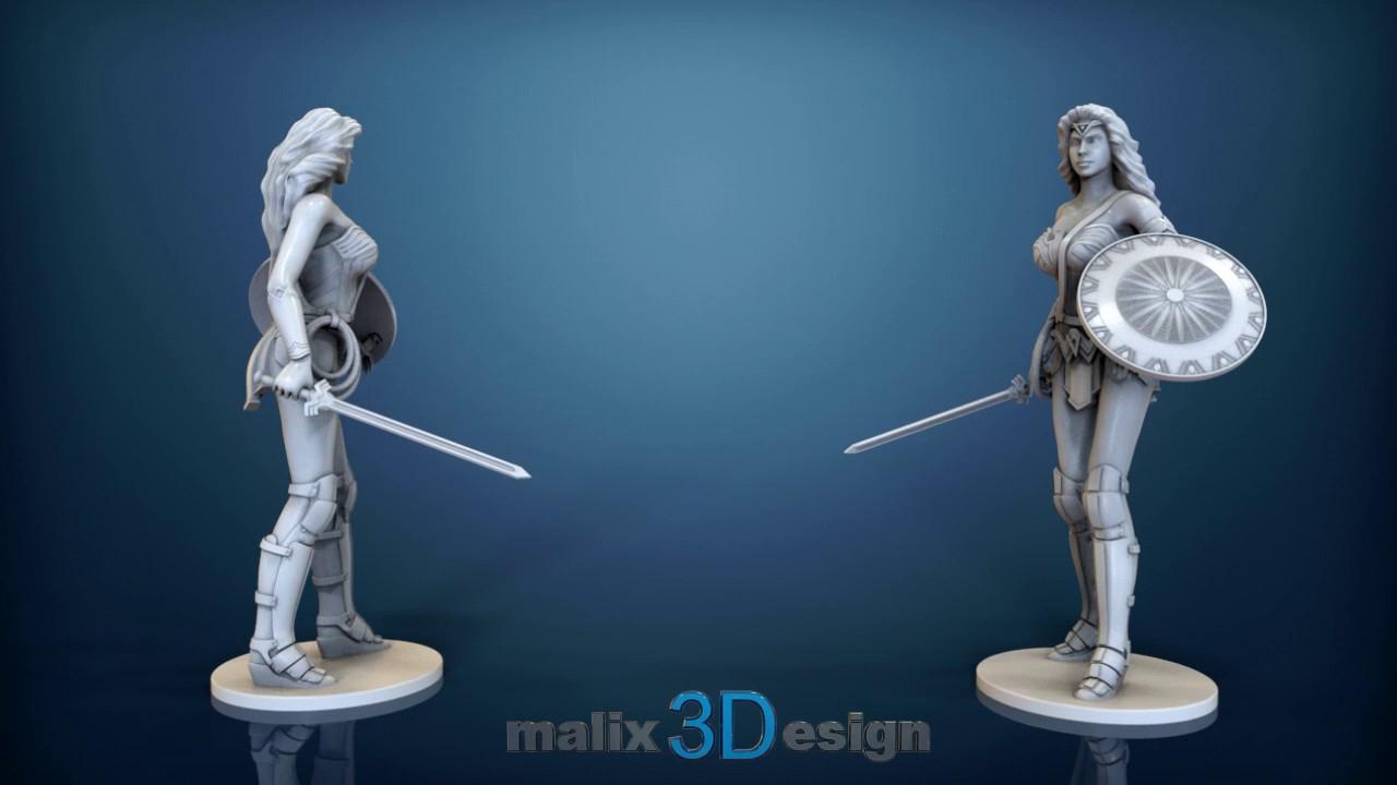 Wonder Woman - 3D Model For 3D Printing - Youtube - Free 3D Printable Models
