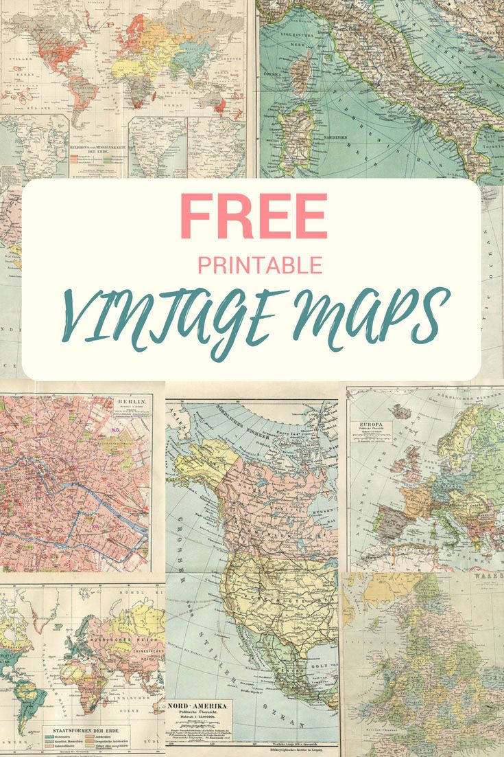 Wonderful Free Printable Vintage Maps To Download   #mcsmith Wedding - Free Printable Wedding Maps