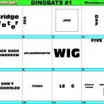 Words Up? Dingbat Puzzles   Free Printable Dingbats Puzzles