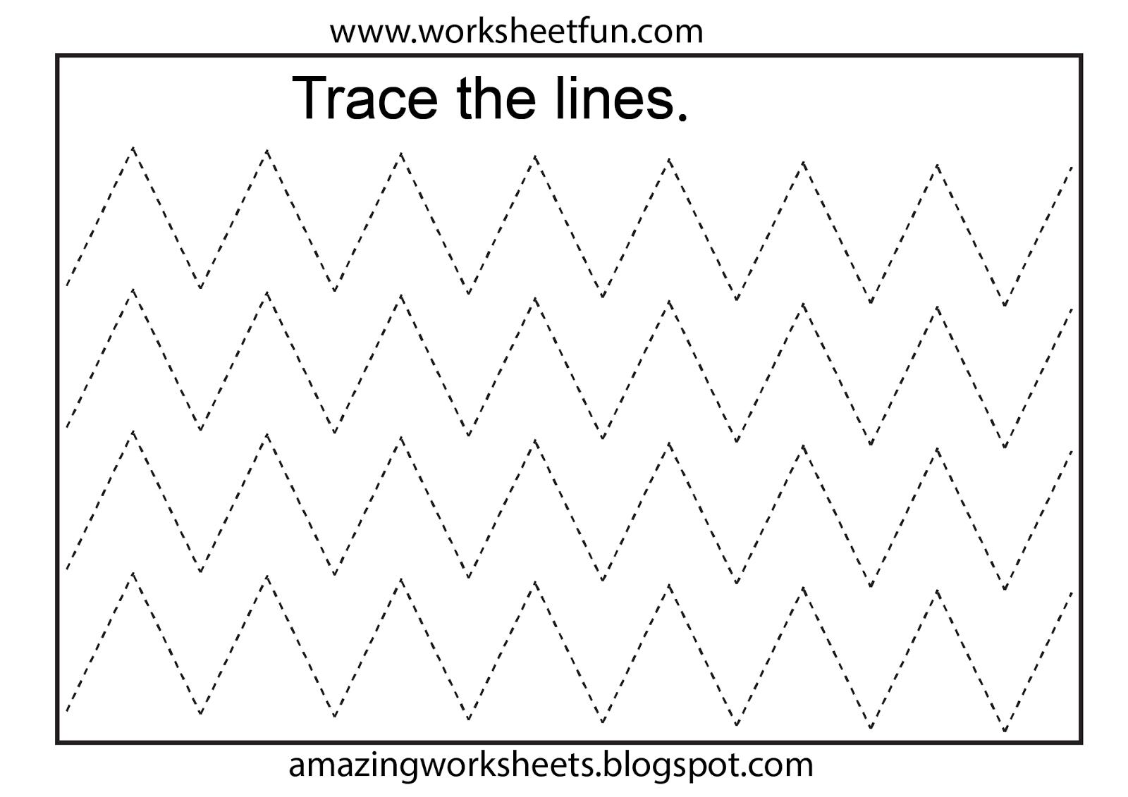Worksheetfun - Free Printable Worksheets   Toddler Worksheets - Free Printable Preschool Worksheets Tracing Lines