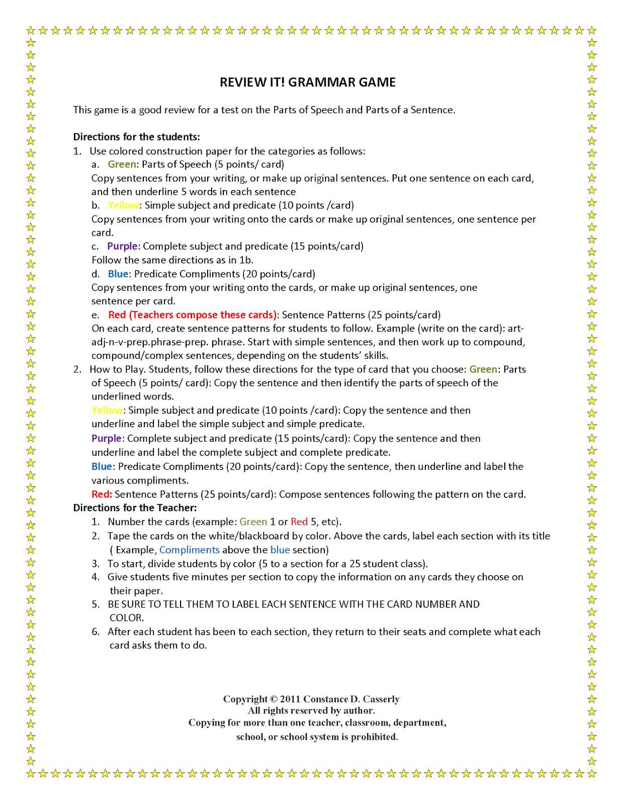 Worksheets Pages : Grammar Activities Worksheets High School Kids - Free Printable Grammar Worksheets For Highschool Students