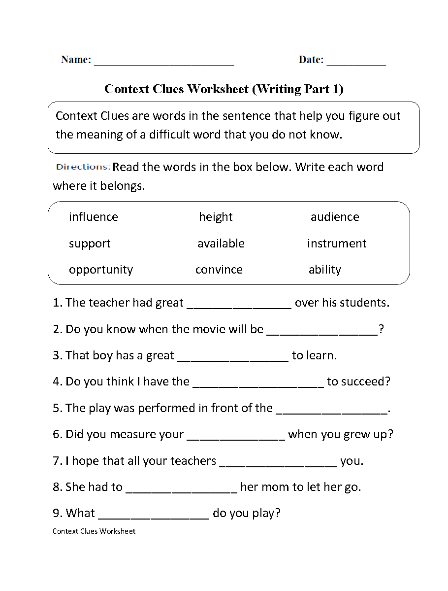 Worksheets Pages : High School English Worksheets Vocabulary Pdf - Free Printable 7Th Grade Vocabulary Worksheets