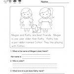 Worksheets Pages : Worksheets Pages Free Printable Reading   Free Printable Reading Comprehension Worksheets For Kindergarten