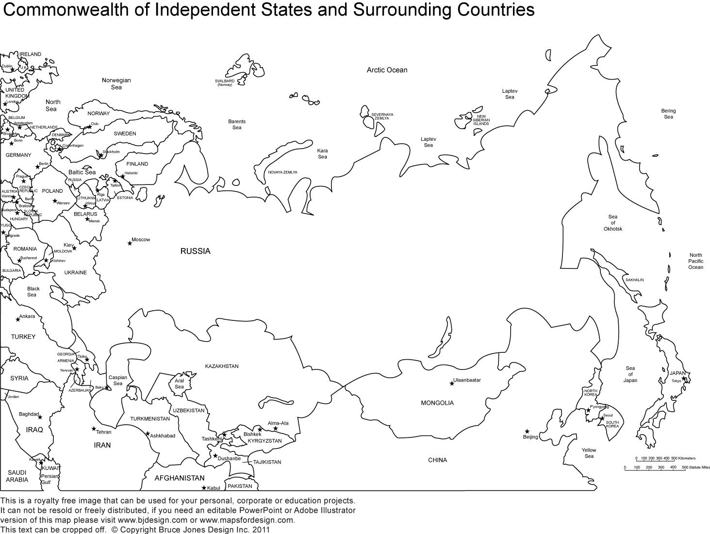 World Regional Printable, Blank Maps • Royalty Free, Jpg - Free Printable Map Of Russia