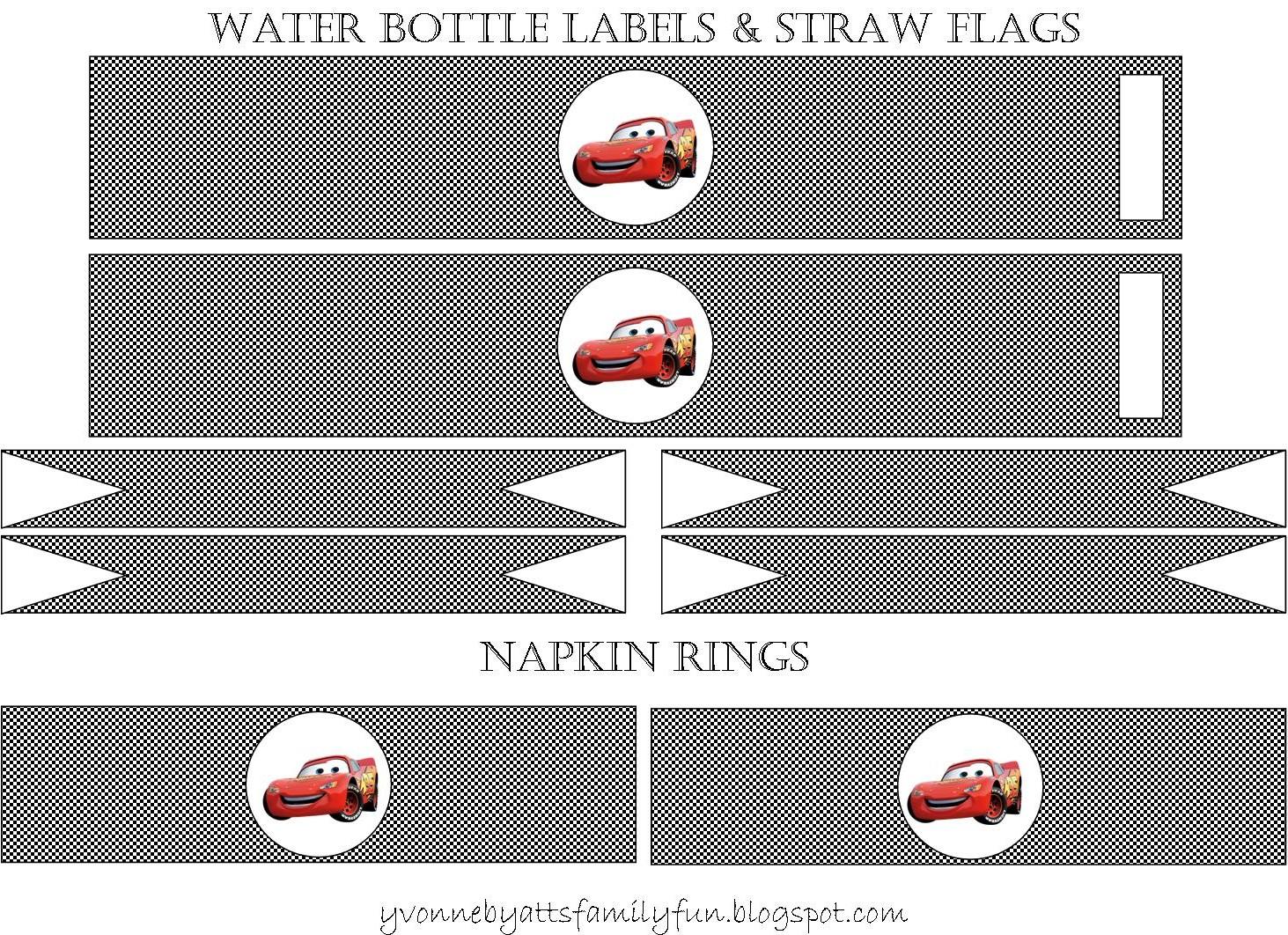 Yvonne Byatt's Family Fun: Disney Cars Party Printables - Free Printable Cars Food Labels