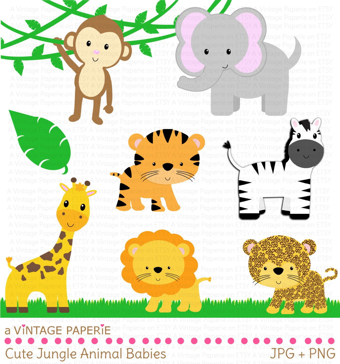 Zoo Animals Clipart - Free Large Images   Safari Baby Shower - Free Printable Baby Jungle Animal Clipart